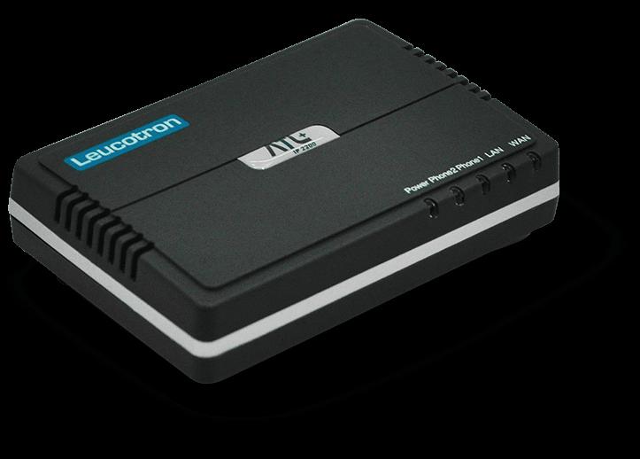 Imagem lateral do Adaptador VoIP ATA ATL+.
