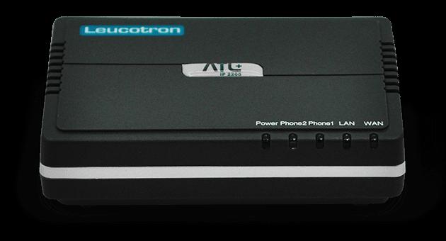 Imagem frontal do Adaptador VoIP ATA ATL+.