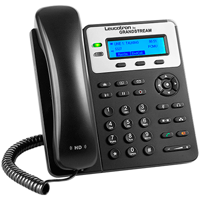 Imagem do terminal telefônico Leucotron by Grandstream GXP1625.
