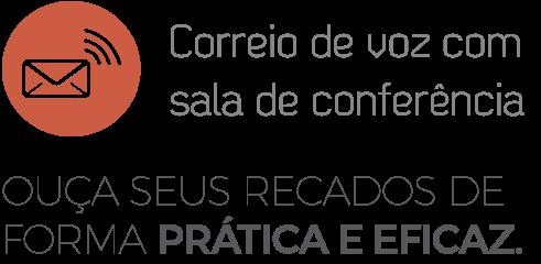 Logo do Correio de Voz com Sala de Conferência da Leucotron.