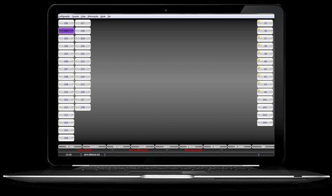 Imagem de um computador com o Terminal Virtual TGCO da Leucotron.